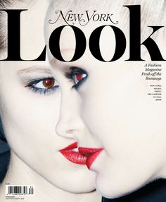 New York Magazine Look, 2008. The red pupils remind me of a stage of Helmut Newton's work during the '70's. Photo: Christopher Anderson.
