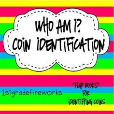 Who AM I? Coin Identification FLAP BOOK