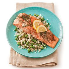 Roasted Salmon with Lemon and Dill from Southern Living... serve with Lemon dill sauce...scrumptious.