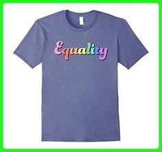 Mens Equality - Retro Political Protest Tee Shirt Medium Heather Blue - Retro shirts (*Amazon Partner-Link)