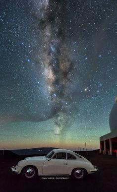 Milky Way at Keck Observatory, Mauna Kea, Big Island of Hawaii (from Ethan Tweedie Photography)