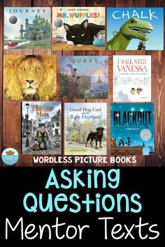 Mentor texts are an amazing way to model and teach students a reading strategy! These are a few of my favorites to teach asking questions! Guided Reading Lesson Plans, Reading Lessons, Reading Skills, Comprehension Strategies, Reading Strategies, Reading Comprehension, 2nd Grade Reading, Student Reading, Good Dog Carl