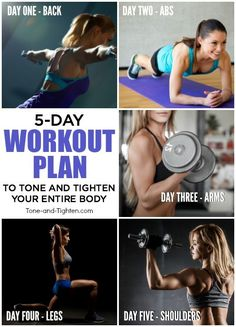 5 great workouts you can do at home to tone and tighten your entire body! | Tone-and-Tighten.com