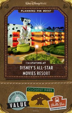 Imagine yourself sharing the spotlight with some of your favorite Disney friends, as you headline your very own all-star adventure. Stay at a Disney Resort hotel that salutes the legends of Disney films—from the dotted pups of 101 Dalmatians to the playful toys of Andy's Room— with whimsical, larger-than-life décor.