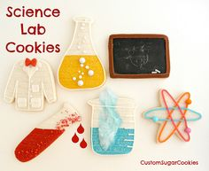 SCIENCE LAB COOKIES: The detail on these cookies is great!