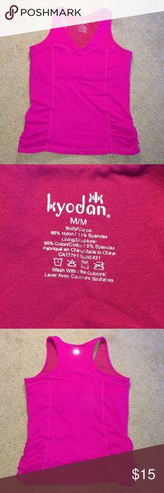Kyodan Pink Athletic Tank, size M Kyodan bright pink tank with built in bra, size M Kyodan Tops Tank Tops