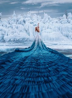 I Travel The World To Photograph Girls In Dresses Against Backgrounds Of The Most Beautiful Places (Again) Ombre Wedding Dress, Tulle Wedding Skirt, Princess Wedding Dresses, Ball Dresses, Ball Gowns, Fotografie Portraits, Party Wear Indian Dresses, Fairytale Dress, Fantasy Dress