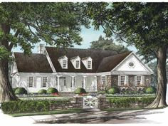 Cottage House Plan with 3128 Square Feet and 4 Bedrooms(s) from Dream Home Source | House Plan Code DHSW67508