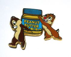 RARE Retired Disney Pin Chip Dale Carrying Peanut Butter Japan Store HTF Nuts