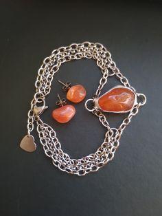 karneolový náramok a náušnice Charmed, Chain, Bracelets, Jewelry, Fashion, Carnelian, Moda, Jewlery, Jewerly