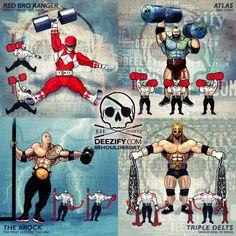Shoulder Exercises: power rangers, atlas, the rock, hhh