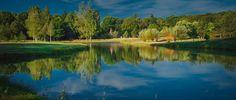 Chateau du Coudreceau Golf Course, 1st Hole & Lake - www.cducestates.com #ChateauduCoudreceau #CduCEstates #PrivateGolf #Golf #GolfCourse