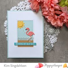 Sunshine Crafts, Flamingo Craft, Memory Box Cards, Summer Solstice, Creative Thinking, Pink Flamingos, Clear Stamps, Paper Texture
