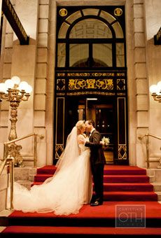 Brides: A Glamorous Wedding at New York City's Iconic Plaza Hotel | Glamorous Weddings | Real Weddings | Brides.com