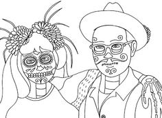 Yucca Flats, N.M.: Wenchkin's Coloring Pages - Parade People #3