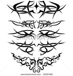 stock vector : Patterns of tribal tattoo for design use