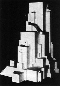 Vanguardia Soviética (Surrealismo Plástico) Kasimir Malevich (1878-1935) Arkitecton (1920)