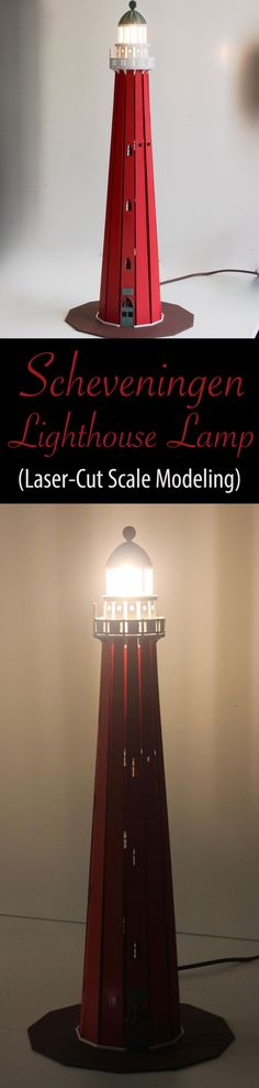 Scale-model lamp of the lighthouse in Scheveningen, the Netherlands. Diy Souvenirs, Lighthouse Lamp, Lazer Cut, Lighthouses, Scale Models, Laser Cutting, Homework, Paper Flowers, Netherlands