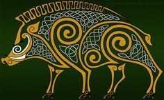 Celtic Boar by Avocadoart on deviantart. Work available on cool apparel.