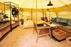 nice glamping tent for when you want to rough it. Tent Camping, Camping Gear, Glamping, Tent Living, Wall Tent, Campaign Furniture, Bus House, Home Board, Simple House