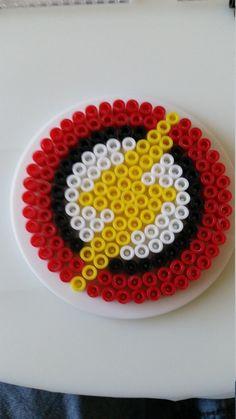 The Flash Logo Perler Beads by PixelatedPlastic