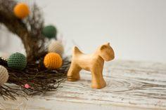 Wooden Waldorf Toy, Dog