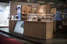 Carrera Booth by Soolid Comunicazione & Arch. Masoni at ISPO, Munich – Germany Bakery Shop Design, Kiosk Design, Signage Design, Retail Design, Exhibition Stand Design, Exhibition Space, Exhibition Ideas, Commercial Architecture, Interior Architecture
