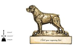 Rotweiler dog plaque can be engraved limited by ArtDogshopcenter