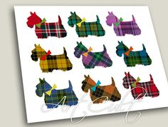 2 Printable Digital Sheets SCOTTISH TERRIER by ArtCult on Etsy