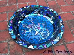glass mosaic bowl - star crazed gecko by olivia alfred