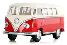 Kultowe repliki samochodów. Oto Volkswagen BUS. Metalowy z ruchomymi elementami. Uzupełnienie kolekcji.