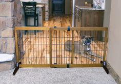 "28"" Wood Free Standing Gate"
