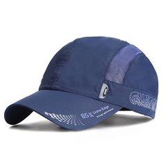Para Hombres Mujeres de Secado Rápido Fino Transpirable Snapback Plano  Gorro de Béisbol Ajustable al Aire 260ab469ece