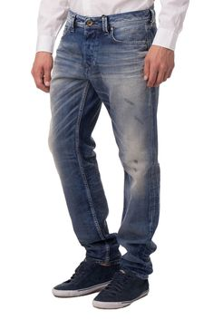163770e4 Diesel Jeans / XXS Distressed Dirty LOOK Straight Fit Larkee-beex for sale  online