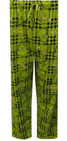 Dr. Seuss The Grinch Green Plaid Lounge Pants
