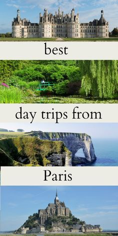 Take a day trip from Paris and explore more of France than just Paris. Check out this 10 nicest day tours from Paris to stunning locations and destinations around Paris. Visit some of the most beautiful locations in France: Étretat, Champagne, the Castles in the Lore Valley, the beaches in the Normandie... the Gardens of Monet in Giverny.. thats just some of the day tours from Paris, see more!