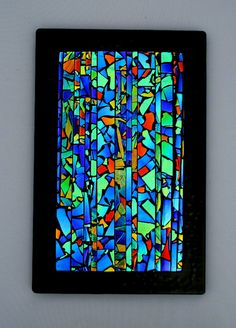 Painted Stained Glass Backlit Could Be Made With A