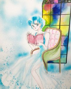 Ami Mizuno by terry_haku Sailor Moon Fan Art, Sailor Moon Manga, Sailor Neptune, Sailor Jupiter, Sailor Moon Crystal, Sailor Mars, Disney Pop Art, Moon Drawing, Sailor Mercury