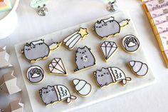 PUSHEEN BIRTHDAY PAWTY; pusheen-cookies