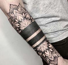 geometric tattoos for women ; geometric tattoos with meaning Geometric Tattoo Forearm, Forearm Band Tattoos, Geometric Tattoos Men, Tattoo Band, Forarm Tattoos, Tribal Sleeve Tattoos, Sleeve Tattoos For Women, Tattoo Sleeve Designs, Body Art Tattoos