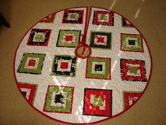 square in square  christmas tree skirt