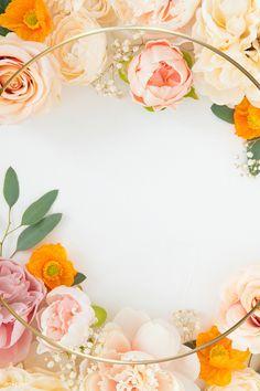 Blooming orange floral frame design | premium image by rawpixel.com / Donlaya Flower Background Wallpaper, Rose Wallpaper, Geometric Background, Flower Backgrounds, Frame Floral, Flower Frame, Orange Wedding Invitations, Flower Clipart, Wedding Background