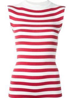 striped knit tank top
