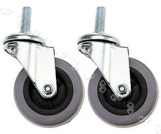 2x75mm (3 inch) wheel bolt hole castors with bolt fitting