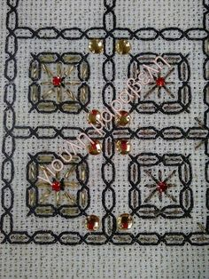 Beaded Embroidery, Needlework, Bohemian Rug, Cross Stitch, Beads, Crafts, Disney, Embroidery Designs, Hardanger