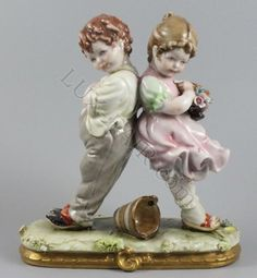 Capodimonte Bruno Merli figurine Boy and Girl Quarrel