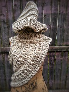 Crochet Katniss Cowl with Hood