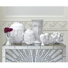 Jonathan Adler Gala Round Vase | Vases, Bowls, & Canisters | Accessories | Decor  | Candelabra, Inc.