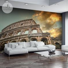 Colosseum In Rome Cityscape Wall Mural Italy Photo Sticker Italy Wall Decor