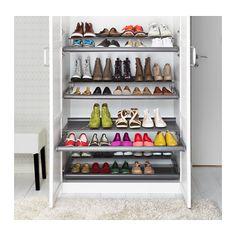 Pod schody lub siedzisko - KOMPLEMENT Wysuwana półka na buty - ciemnoszary, 100x58 cm - IKEA